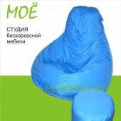 "Кресло-груша ""Бирюза"", ткань - дюспо, размер 70х100см. объем - 180 литров, вес 3 кг."