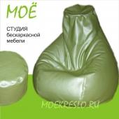 """Кресло-груша """"Фисташ"""", ткань - экокожа, размеры 90х120 см, объем - 270 литров, вес 4 кг."""