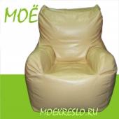 """""""Fusion piach"""" кресло """"Гнездо"""", бескаркасное кресло груша с подлокотниками, ткань верхнего чехла - экокожа, размеры 70х80х90 см, объем 450 литров, вес 7 кг."""