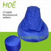 """Кресло-груша """"Василек"""", ткань - дюспо, размер 90х120см. объем - 270 литров, вес 3,5 кг."""